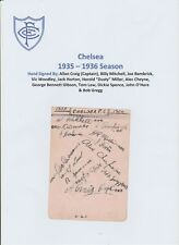 CHELSEA 1935-1936 EXTREMELY RARE ORIGINAL HAND SIGNED BOOK PAGE 13 X SIGNATURES