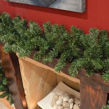 270cm (9ft) x 25cm Imperial Pine Christmas Garland Decoration Plain Green
