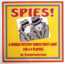 HOST A 1950's MURDER MYSTERY DINNER PARTY GAME ~ FOR 6-8 PLAYERS*