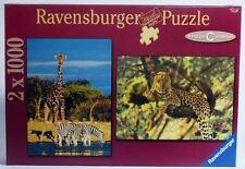 Puzzle 2 x 1000 piezas Ravensburger Namibia / Leopardos  Referencia 16798