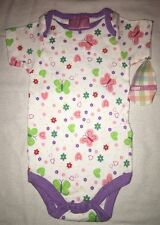 Baby One Piece Super Cute Pink Purple Green Red Flowers Butterflies 6-9 Months