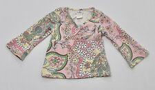 Icky Baby Floral Paisley Cross-Over Long Sleeve Top, 12-18 mos.