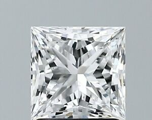 GIA Certified Loose Lab Grown Diamond 1.41 Carat Princess E Color VS1 Clarity