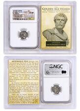 Roman Empire Silver Denarius Antoninus Pius NGC CH XF Golden Age Hoard SKU40210