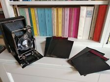 TESTED! 10x15 plate camera, Helioplan 16.5cm 1:4.5, 2 Zeiss 665/9 plates, 4x5