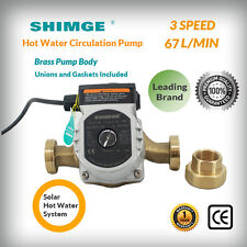 Shimge XPS25-6-180 Brass Pump Body 3 Speeds Hot Water Circulation Pump Low Noise