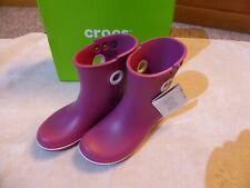 """Ladies """"Crocs"""" Pink Boots. Size 5. New Boxed."""