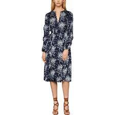 BCBG Max Azria Womens Floral Blouson A-Line Midi Dress BHFO 0579