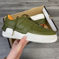 WOMEN'S NIKE AIR FORCE 1 JESTER XX PRM GREEN/YELLOW TRAINERS UK4.5 US7 EUR38