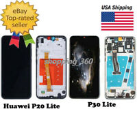 For Huawei P20 Lite / P30 Lite LCD Touch Screen Digitizer Replace+Frame USPS