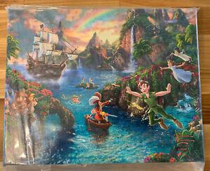 Thomas Kinkade Studios Peter Pan's Never Land 8 x 10 Gallery Wrapped Canvas
