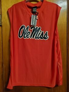 Ole Miss Rebels Fans Edge Mens sleeveless Shirt  XLarge + carabiner with logo