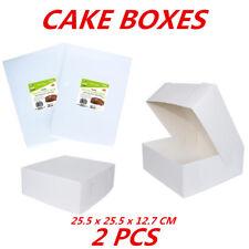 CAKE BOXES Cardboard White Cake Cupcake Box Birthday Party Food Bulk Buy Boxes W