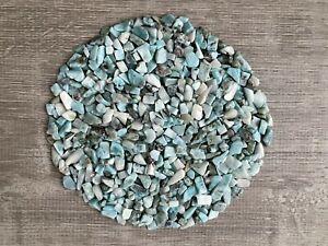 Grade A++ Larimar Semi Tumbled Gemstone Mini Chips 5 -12mm, Wholesale Bulk Lot