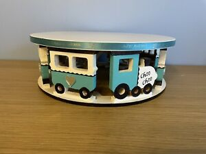 Large Wooden Round Train Display Stand