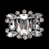 1PC Alloy Shoes Clips Rhinestone Crystal Shoe Buckle Bridal Wedding Decor