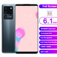 6.1inch Smartphone 6G+64GB Quad-Core Dual Card Face ID Unlocked for Android 10.0