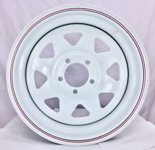 "14x6"" WHITE SUNRAYSIA Steel Wheel 5/114.3 FORD Stud Pattern for TRAILER& CARAVAN"