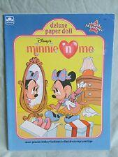 New Uncut Disney's Minnie Mouse n Me Paper Dolls Book Publisher Golden Book 1990