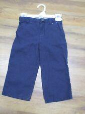 Gymboree Boys Dress Pant Navy Blue Linen Blend Pants 18-24 M Adjustable Waist