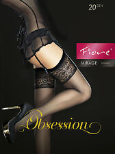 Fiore Obsession Designer Mirage Stockings 20 Denier Beautiful Patterned Tops
