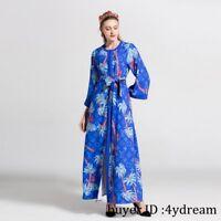 2018 Summer Elegant Floral Print Belt Slim Occident Evening Cocktail Party Dress