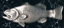 Large Mouth Bass Silver Pin Tie tac de lodzia Copyright Hallmarked Emblem
