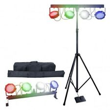 Partybar V2 LED Parbar kit with Bag, Stand and Foot controller DMX Stage