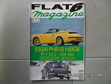 FLAT 6 N°22 12/1992 PORSCHE essai pneus neige 911 E.2.2 356 alu Speedster  J39