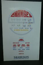 """Changes A New Musical Theater Broadway Window Card Poster 14"""" x 22"""""""