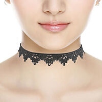 Black Lace Victorian Vintage Gothic Collar Choker Necklace Pendant Jewelry