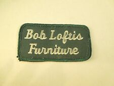 Vintage Bob Loftis Furniture Logo Company Iron On Patch
