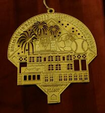 Rochester Red Wings 24k Gold on Brass Christmas Ornament Frontier Field 1997 HTF
