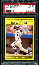 PSA 10 Jeff Bagwell 1991 Fleer Update Rookie Card #U-87 Gem Mint HOF 2017 RC