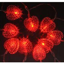 Fonctionne À Piles Rouge Cœur guirlande lumineuse LED féérique : ON+Flash
