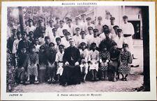 1930 Japanese Missionary Postcard: Petits Seminaristes de Myasaki, Japan