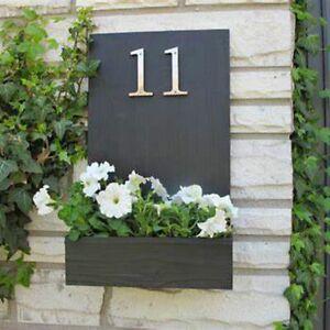 House Number Big Modern Door Home Address Mailbox Digital Sign 4 Inch Silver DIY