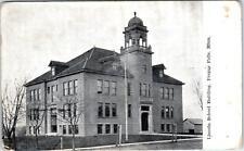 FERGUS FALLS, MN Minnesota   LINCOLN SCHOOL Building   1909  Postcard