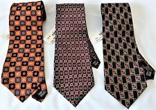 NWT~ 3 Resilio Men's Neck Ties 100% Silk