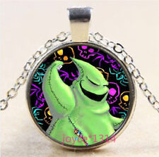 Nightmare Before Christmas Cabochon silver Glass Chain Pendant Necklace #3789