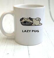 Lazy Pug - Lazy Animals Mug & Coaster Gift - Cup Set