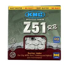 "KMC Z51RB Rust Buster 5/6/7/8-Speed 3/32"" Bicycle Chain Winter fits Shimano SRAM"