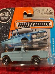 Matchbox 62 Nissan Junior Pickup Truck BLUE #7 2017 new on short card