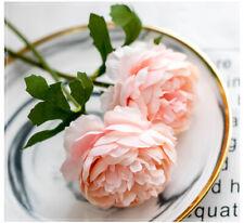 Rose Artificial Flowers White Silk Fake Peony Wedding Wall Indoor Home DIY Decor