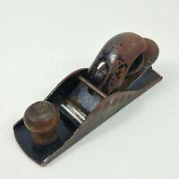 """Angle Hand Block Plane Vintage 7"""" Wood Knob"""