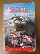 SPANISH FIRST YEAR by Robert J. Nassi and Stephen L. Levy~Paperback Book