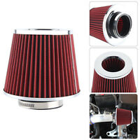 Universal Red Finish Car Air Filter Induction Kit High Power Sports Mesh Cone