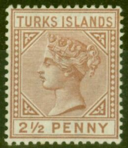Turks & Caicos Is 1882 2 1-2d Red-Brown SG56 Fine Mtd Mint