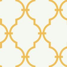 Wallpaper Designer Moroccan Arabesque Yellow Trellis on Eggshell White