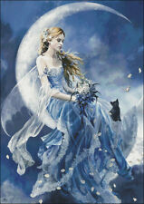 Needlework Crafts Full Embroidery DIY Counted Cross Stitch Kits Fairy Moon